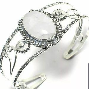 Moonstone handmade silver bracelet (love and frien